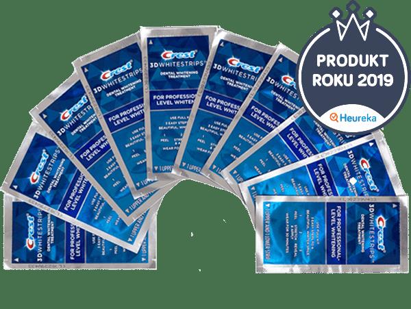 Bělicí pásky Crest 3D White Professional Effects - Pol balení