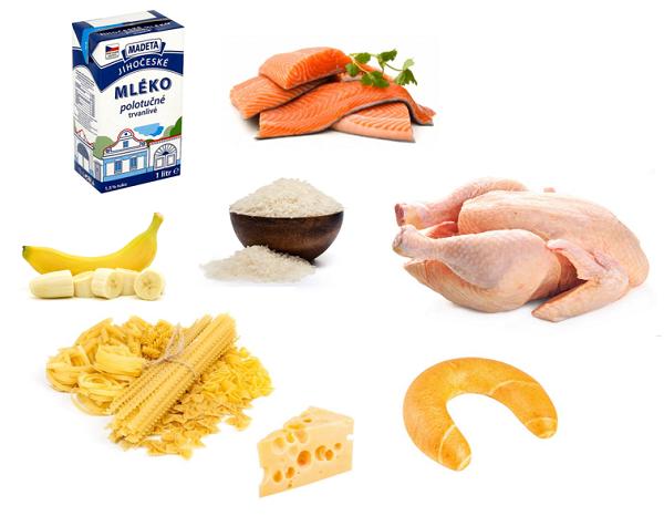 Bílá dieta povolené potraviny